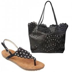 Set sandale (40) cu geanta LALU Samantha/Peggy